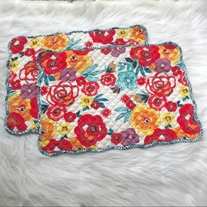 Pioneer Woman Quilted Floral Dinner Placemats